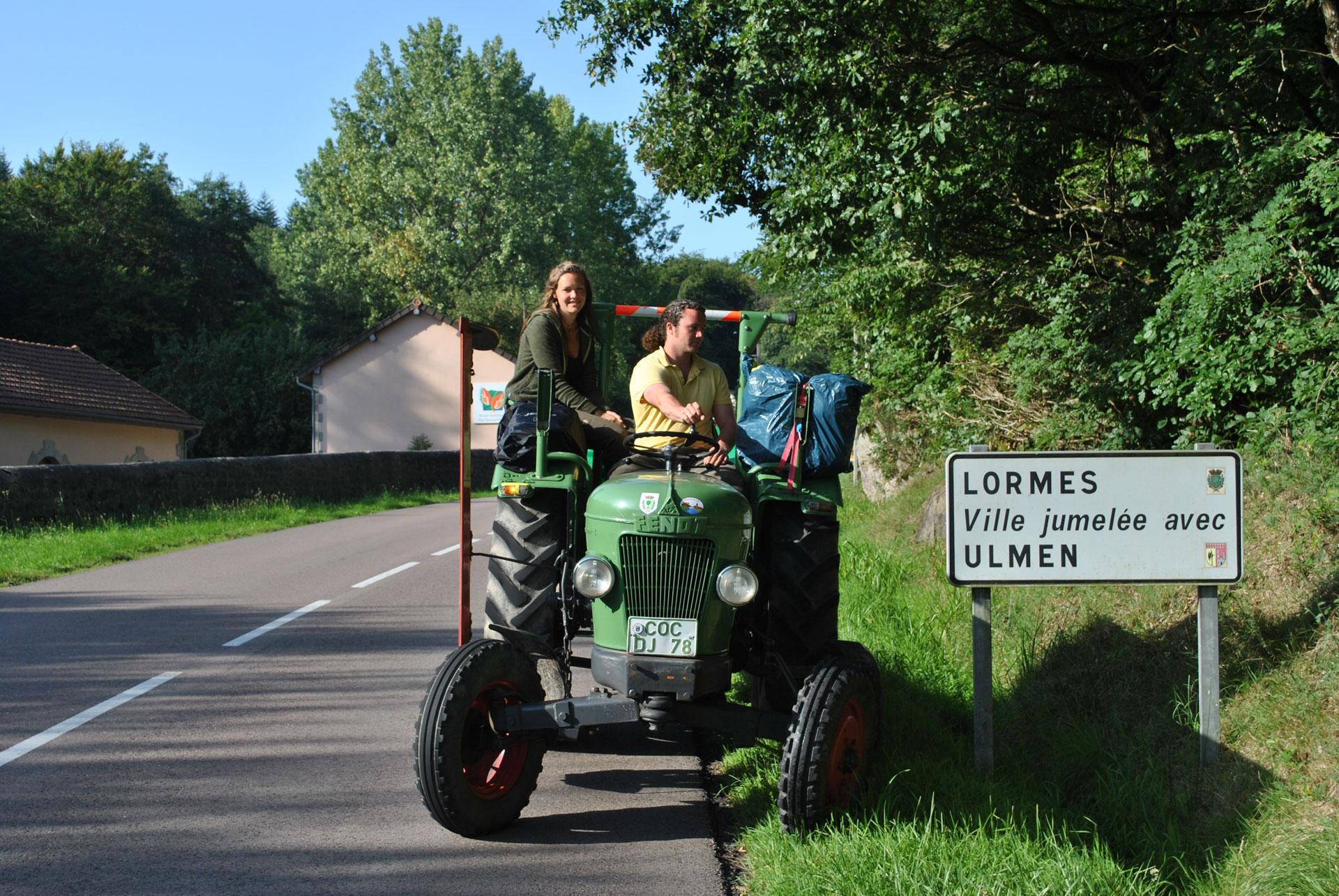 Visite de Lormes en tracteur