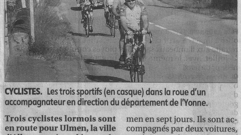 Les cyclistes sont partis pour Ulmen…