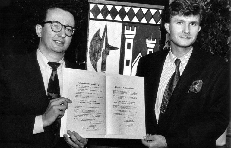 Signatures de la Charte de Jumelage
