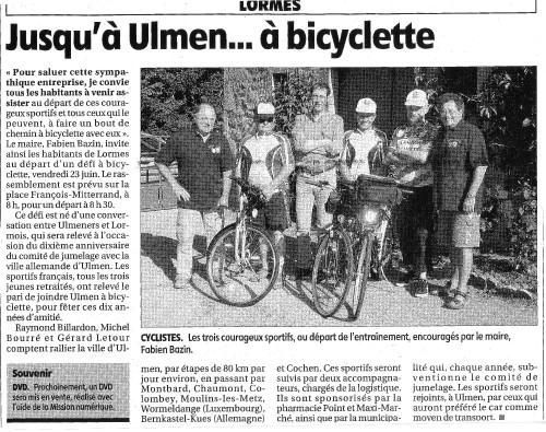 Jusqu'à Ulmen… à bicyclette