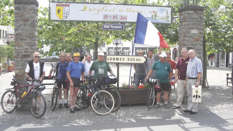 Lormes-Ulmen à vélo : l'arrivée