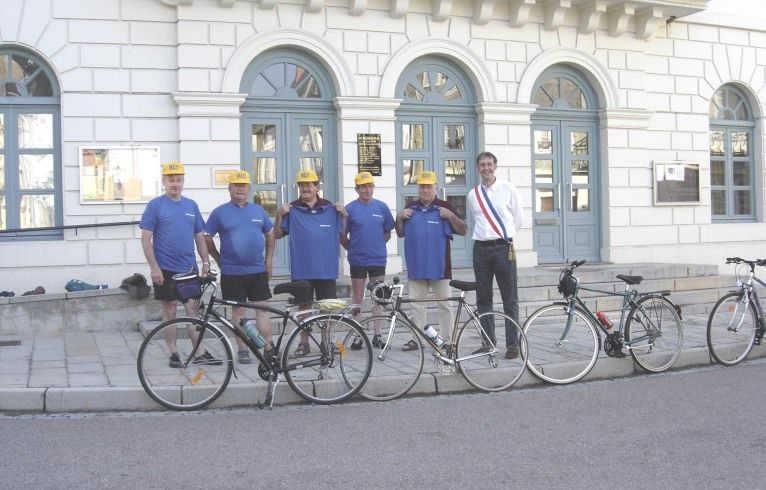Lormes-Ulmen à vélo : le départ
