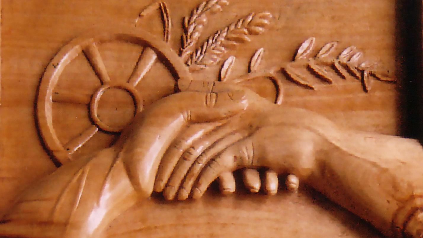 Sculpture de Maurice Liobet pour les 10 ans du jumelage